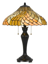 "CAL Lighting BO-2643TB - 24"" Height Metal Table Lamp In Dark Bronze"