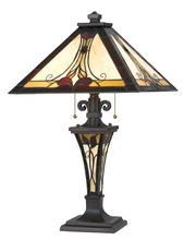 "CAL Lighting BO-2647TB - 25"" Height Metal Table Lamp In Dark Bronze"