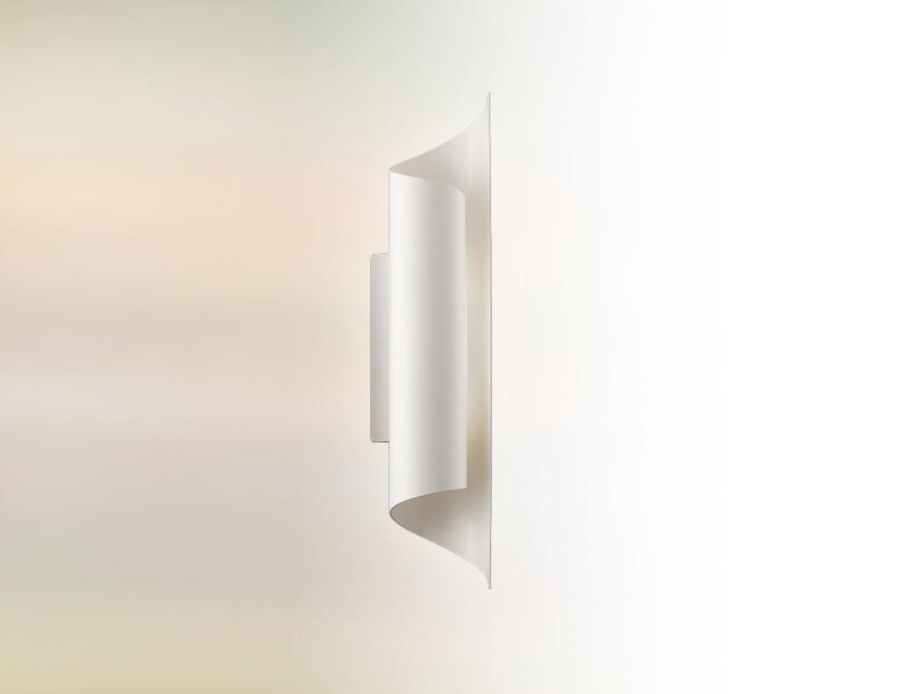 Eight light white outdoor wall light