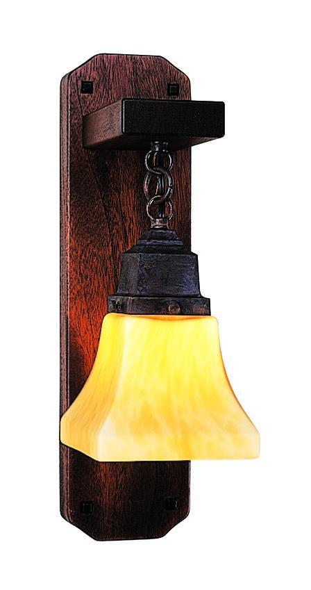 Ruskin Mahogany Wood Sconce