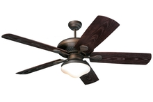 "Monte Carlo 5SH54RBD-L - 54"" The Shores Outdoor Fan - Roman Bronze"