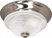 "Nuvo 60/586 - Triumph - 1 Light - 11"" - Flush Mount - with Sculptured Glass Shades"