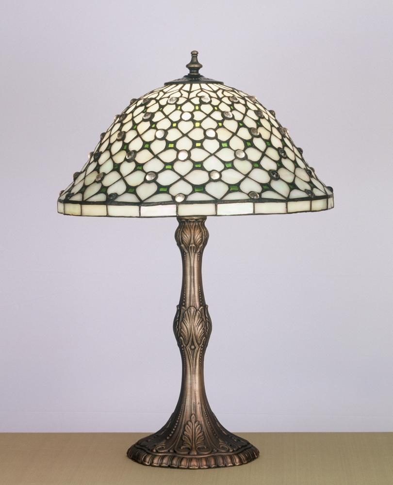 "20""H Diamond & Jewel Table Lamp"