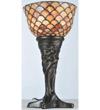 "Meyda Tiffany 108935 - 14""H Tiffany Fishscale Mini Lamp"
