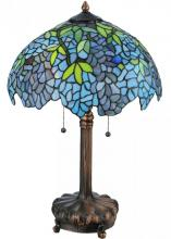 "Meyda Tiffany 139606 - 25""H Tiffany Wisteria Table Lamp"