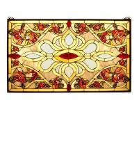 "Meyda Tiffany 31359 - 32""W X 19.25""H Bed of Roses Stained Glass Window"